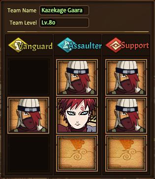 Team Kazekage Gaara N