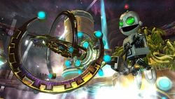 Clank holding the Chronoscepter
