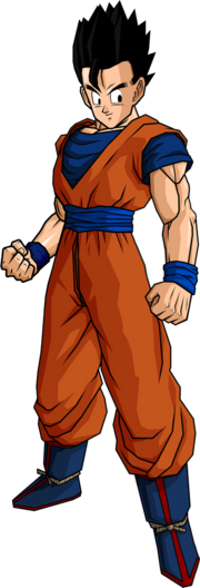 Gohan in his father s outfit by db own universe arts-d3go0wo