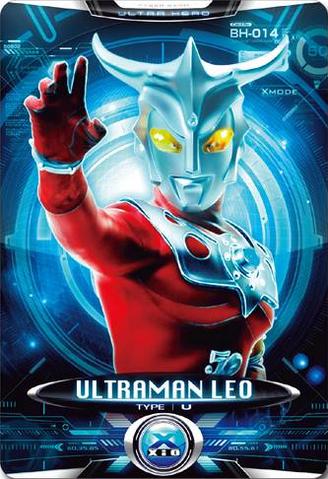 File:Ultraman X Ultraman Leo Alternate Cover Card.png