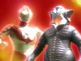 Alien Mefilas and Ultraman