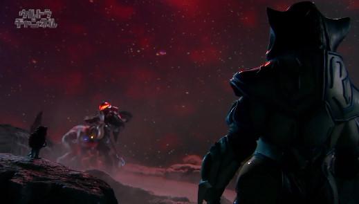 File:Armored Mephilas & Pigmon watching the battle of Zero & Belial.jpg