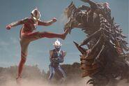Mebius & Hikari vs Dinozaur
