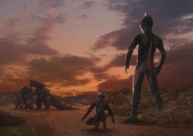 File:Ultraman Saga-Gomess and Gubila Screenshot 002.jpg