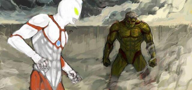 File:Ultraman vs armored titan by johnkalem-d6k0wwb.jpg