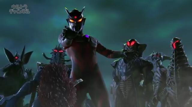 File:Pigmon,Darkness Four & Tyrant watch Zero Darkness(Belial) still not moving yet.jpg