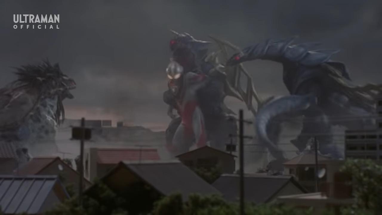 File:King of Mons and Bajiris v Ultraman Gaia.png