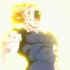 This is extreme fatherly love dude, Vegeta exploding for his family and friends...stand tall soldier...