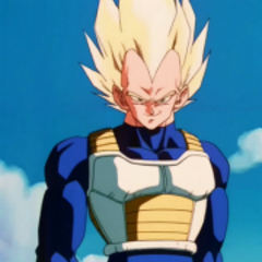 Super Saiyan Vegeta against Android 19