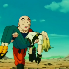 Android 18 knocked out of Cell's body