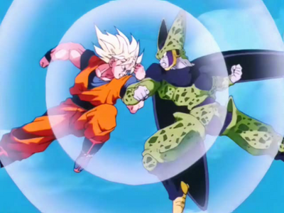 FPSSJ Goku vs Cellgbzdgfb
