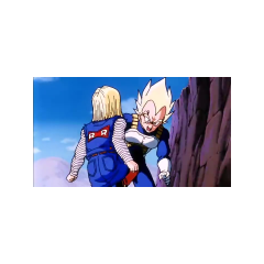 Android 18 attacks Vegeta