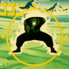 Piccolo charges the Special Beam Cannon