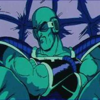 Nappa in his space pod travelling to Earth