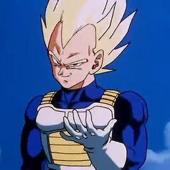 SSJ Vegeta about to fight Cell.