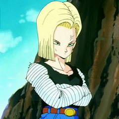 Android 18 during her fight with Vegeta