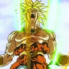 SS Broly powers up in