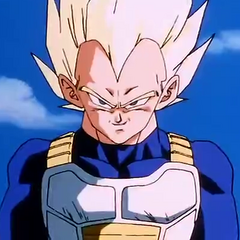 Super Saiyan Vegeta about to fight Cell.
