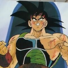 Bardock about to try to stop Frieza from destroying Planet Vegeta