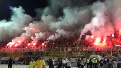 ARIS - BOCA JUNIORS 5-8-2009 Teams Entrance HD 720p
