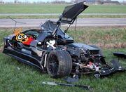 Car crash 20 year old driver destroys gumpert apollo 01