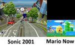 Sonic then and Mario now