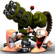 Worms-turret