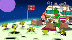 Uncle Grandpa, Belly Bag, Pizza Steve, and Mr. Gus in Tag Sale 05