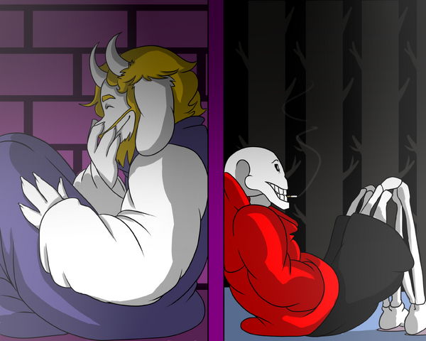 File:Underswap asgore and papyrus by aredhelgumshall3-d9xla9u.png