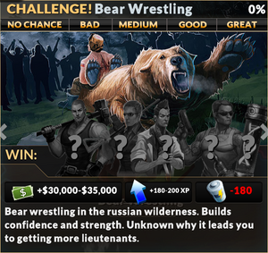 Job bear wrestling
