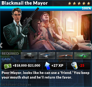 Job blackmail the mayor
