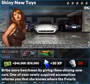 Job shiny new toys