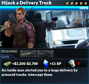 Job hijack a delivery truck