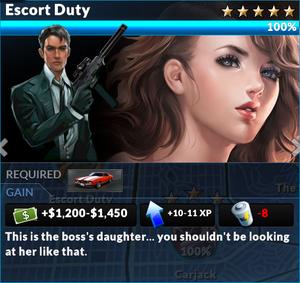 Job escort duty
