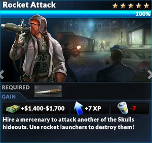 Job rocket attack
