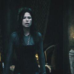 Sonja is surprised as the door opens.