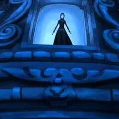 Selene in a belfry.