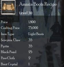 Assasin Boots Rec