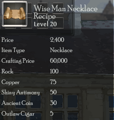 Wise Man Necklace Rec