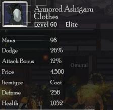ArmoredAshigaruClothes
