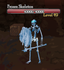 Frozen Skeleton