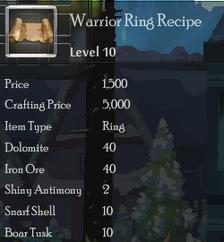 Warrior Ring Rec