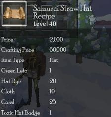 Samurai Straw Hat Rec