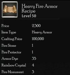 Heavy Fire Armor Rec
