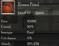 Frozen Pistol