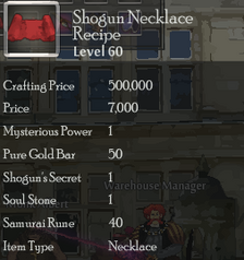 Shogun Necklace Rec