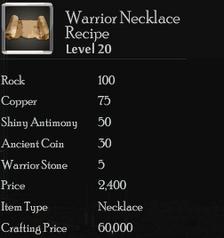Warrior Necklace Rec
