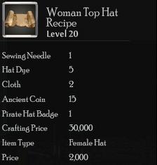 Woman Top Hat Rec