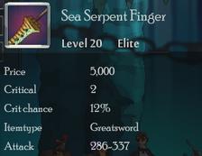 Sea Serpent Finger