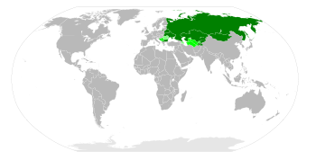 Cyrillic alphabet world distribution